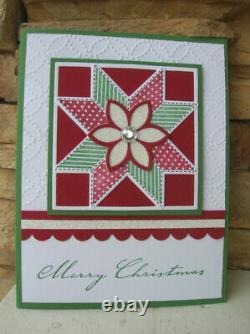 Stampin UP Christmas Quilt set & Quilt Builder Framelits Dies Bundle NEW + DSP