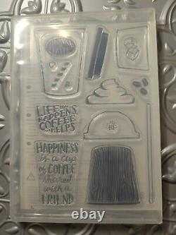 Stampin' UP! Coffee Cafe, Merry Cafe and Coffee Cup Framelits and Stamp Sets