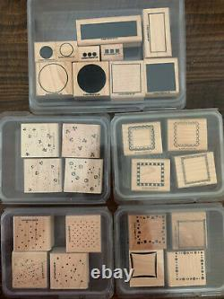 Stampin' Up! (1995-2007) Lot of 26 Wood Mounted Rubber Stamp Sets New and Used