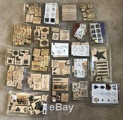 Stampin Up 22 Sets Lot of 185 Rubber Stamps MANY BRAND NEW Letters Nature Love