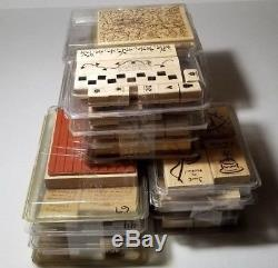 Stampin Up 23 Sets Lot of Rubber Stamps