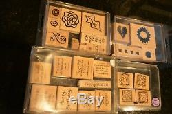 Stampin' Up! 32 Rubber Stamp Sets & 80+ Mounted Stamps Misc Exc. Cond New & EUC