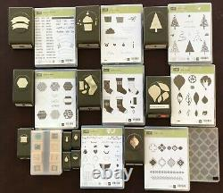 Stampin' Up! 90 stamp sets 43 Dies 32 Punches 9 Embossed Folders