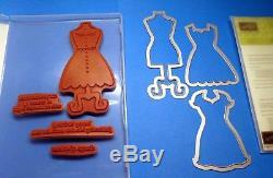 Stampin' Up ALL DRESSED UP Clear Stamp Set + DRESS UP Framelits Bundle