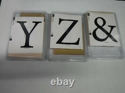 Stampin Up Alphabet A-z Monogram Letter Wood 27 Rubber Stamps Set New A27563