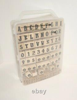 Stampin Up Alphabet Appeal Upper Lower Numbers Letters 6 Complete Sets Retired