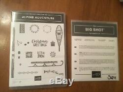 Stampin' Up! Alpine Adventure Stamp Set & Alpine Sports Thinlits dies bundle
