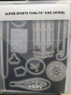 Stampin Up! Alpine Adventure-photopolymer stamp set& Alpine Sports Thinlit Dies