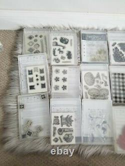 Stampin' Up Assorted Stamp Sets Lot of 50+ Stamps Close to my heart Sizzix