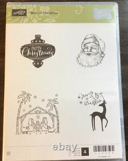 Stampin Up! BEST OF CHRISTMAS Stamp Set Retired Santa Reindeer Nativity Ornament