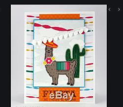 Stampin Up BIRTHDAY FIESTA Stamp Set, DIES, DSP & Cactus Embossing Folder LLAMA