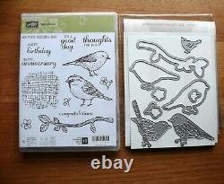 Stampin' Up! Best Birds Photopolymer Stamp Set + Birds & Blooms Thinlits Dies