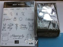 Stampin Up! Best Bunnyphotopolymer stamp set & Bunny Builder PunchRetiredNEW