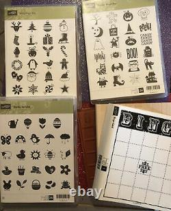 Stampin Up Bingo Card Game Jolly Spooky Craft Stamps Set Spring Halloween Xmas