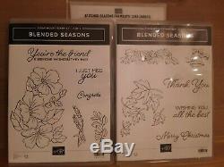 Stampin Up Blended Season Stamp Sets 1 and 2 & Stitched Seasons Framelits Dies