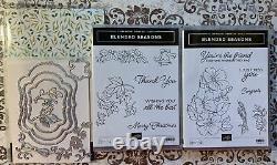 Stampin Up Blended Seasons Set Of 2 Stamp Set Framelits Dies DSP