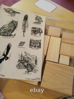 Stampin Up Brand New Birds Of Prey! Awesome Rare Set In Rare New Condition