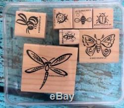 Stampin' Up! Bunch O' Bugs Wood Mount Stamp Set