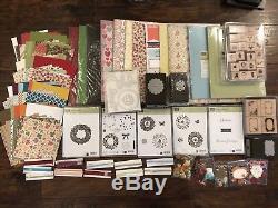 Stampin Up Bundle Lot 3 Christmas, DSP, Cardstocks, Stamp Sets, Ribbons, & More