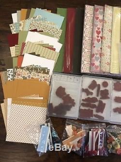 Stampin Up Bundle Lot 4 Christmas, DSP, Cardstocks, Stamp Sets, Ribbons, & More