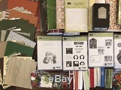 Stampin Up Bundle Lot 8 Christmas, DSP, Cardstocks, Stamp Sets, Ribbons, & More