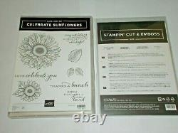 Stampin' Up CELEBRATE SUNFLOWERS cling set & SUNFLOWERS DIES NEW
