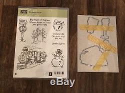 Stampin Up! CHRISTMAS MAGIC Wood Mount Stamp Set Gently Used
