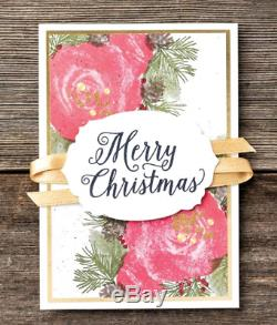 Stampin Up CHRISTMAS ROSES Stamp sets, ROSES DIES & DSP Beautiful Gold foil