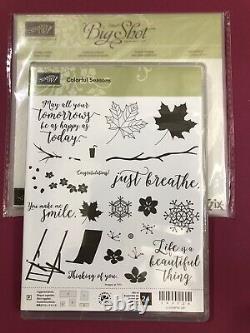 Stampin Up COLORFUL SEASONS Stamp Set & SEASONAL LAYERS Dies Branch Snowflakes
