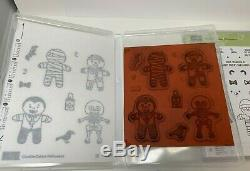Stampin Up! COOKIE CUTTER Christmas & Halloween Stamp Sets & Punch Gingerbread