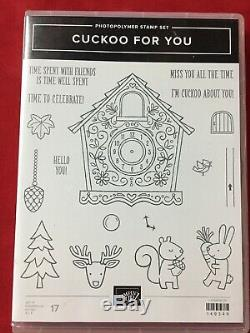 Stampin' Up! CUCKOO FOR YOU & YUMMY CHRISTMAS Stamp Sets & CUCKOO CLOCK Dies
