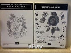 Stampin' Up Christmas Rose Stamp Set, Coordinating Dies, Designer Series Paper a