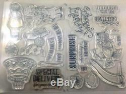 Stampin Up Clear Die Stamp Set Birthday Delivery & 12x12 Papers Retired Bundle
