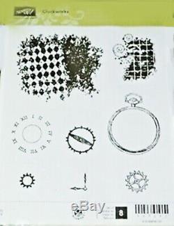Stampin Up Clockworks Retired Clear Mount Stamp Set Mint Cardmaking Scrapbook