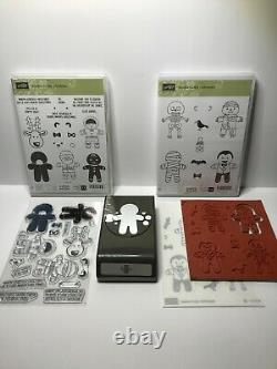 Stampin' Up Cookie Cutter Christmas Halloween Stamp Sets & Gingerbread Man Punch