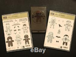 Stampin Up! Cookie-Cutter Christmas PLUS Halloween Stamp Sets NEW! PLUS Punch