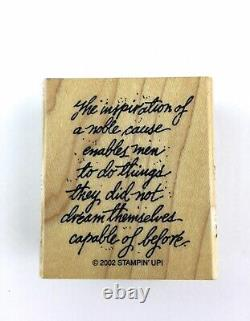 Stampin Up Courage & Honor Rubber Stamp Set Military Veteran USA Plus USMC