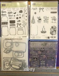 Stampin Up Every Day Jars Of Love Cheer Craft Dies Stamps Set Ub Haunts Lot