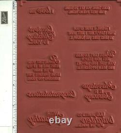 Stampin' Up! FLOURISHING PHRASES stamp set of 2 & FLOURISH THINLITS DIES NEW