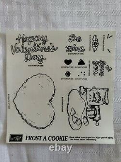 Stampin Up FROST A COOKIE Set of 11 Rubber Stamps New RARE Valentines Heart