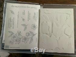 Stampin Up Forever Blossoms stamp set and Cherry Blossoms die set Bundle New