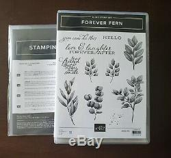 Stampin Up Forever Fern stamp set withForever Flourishing dies-NEW