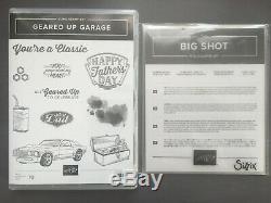 Stampin Up! GEARED UP GARAGE Stamp Set & GARAGE GEARS Thinlits Dies NEW Bundle