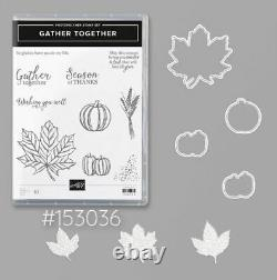 Stampin' Up! Gather Together Photopolymer Stamp Set + Gathered Leaves Dies