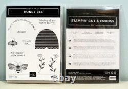 Stampin Up! HONEY BEE Cling Stamp Set & Detailed BEE DIES Cut & Emboss Bundle