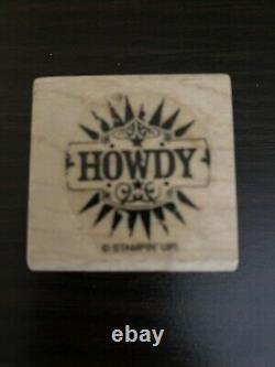Stampin Up! HOWDY Word Stamp From The A Little Something Set NEW RUBBER STAMP