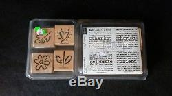 Stampin Up! HUGE LOT Sets, New & Used/Mounted, Loose, Rubber Stamp & Ink Pads