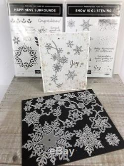 Stampin' Up! Happiness Surrounds & Snow is Glistening stamp sets & Snowfall dies