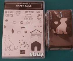 Stampin Up Happy Tails stamp set & Dog Builder Punch Both Brand New