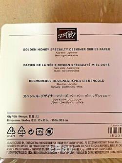 Stampin Up Honey Bee Stamp Set Detailed Bee Dies 12x12 Golden DSP Paper Bundle